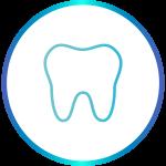 Icona bidimensionale di un dente molare