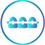 Icona identificativa della terapia articolare con ortodonzia-ortodonzia-fissa