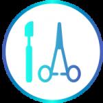 icona con strumenti per la pulizia dentale